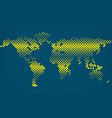 abstract halftone world map vector image vector image