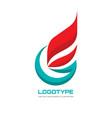 abstract logo template concept vector image vector image