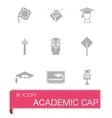 Academic cap icon set