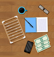 accounting workplace vector image vector image