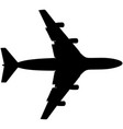 airplane silhouette jet plane icon vector image