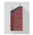 asymmetric building apartments vector image