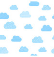 baby boy blue clouds pattern background vector image