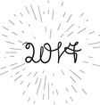 Banner 2017 lettering vector image