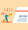 best pirce online store banner template vector image vector image