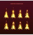 Bonfire animation sprites vector image vector image