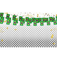 brazil flags and brazil balloons garland with vector image vector image