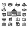 building icons set government buildings vector image vector image