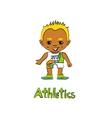 Cartoon Boy Athelete vector image vector image