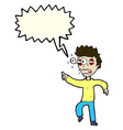 cartoon man with popping out eyes with speech vector image vector image