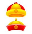 chinese traditional hat vector image