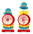 clown alarm clock vector image
