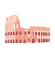 coliseum in rome italian sightseeing vector image