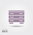 commode icon flat vector image