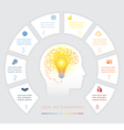 Conceptual idea infographics eight positions vector image