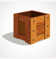 cute cartoon empty wooden box vector image vector image