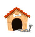 dog house isolated vector image vector image
