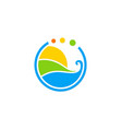eco water abstract environment logo vector image vector image