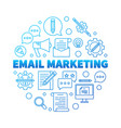 email marketing round blue concept vector image