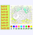 exercise for children with multiplication by vector image vector image