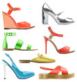 female summer shoes vector image vector image