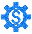 financial development icon grunge watermark vector image vector image