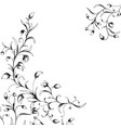 floral elements in sketch style vector image vector image