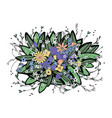 flowers composition vector image vector image