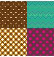 four abstract retro seamless simple pattern eps10 vector image vector image
