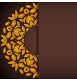 Gold and brown sunflowers round invitation vector image vector image