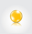 gold drop of oil essence vector image