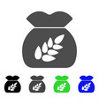 grain harvest sack flat icon vector image vector image