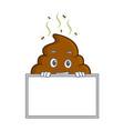 grinning board poop emoticon character cartoon vector image