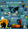 halloween holiday celebration infographic template vector image