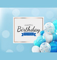 happy birthday background with balloons vector image vector image