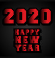 happy new year 2020 typography design for holiday vector image vector image
