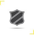 heraldic shield icon vector image