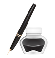 Ink pen with an open pen vector image