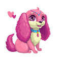 little cute dog with long ears vector image