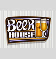 logo for beer house vector image vector image