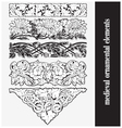 medieval ornamental elements vector image