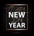 new year flat designed background with gold vector image vector image
