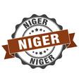 niger round ribbon seal vector image vector image