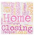 No Money Down Loans text background wordcloud vector image vector image