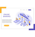 online banking secure payments bank account 3d vector image vector image