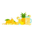 pineapple juice in a glass lemonade in a glass vector image