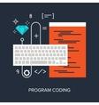 Program Coding vector image vector image