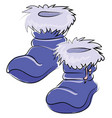 purple boots on white background vector image vector image