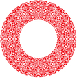 round thick frame from red ornamentation vector image vector image
