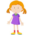 Sad girl having measles vector image vector image